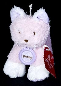 Amy Coe PENNY CAT Pink Lovey Lovie Stuffed Plush Rattle